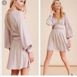 Free People I think I love you dress in taupe